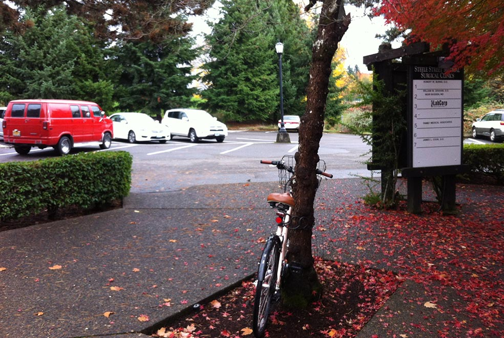 no bike rack